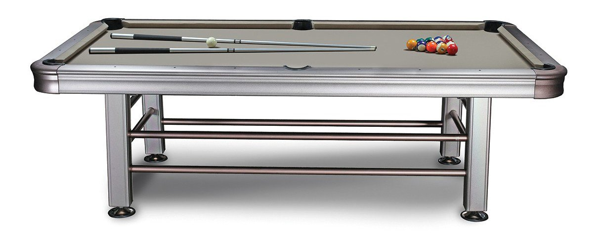 Outdoor Pool Table. Anodized Aluminum Rails And Aluminum Corners And Legs!