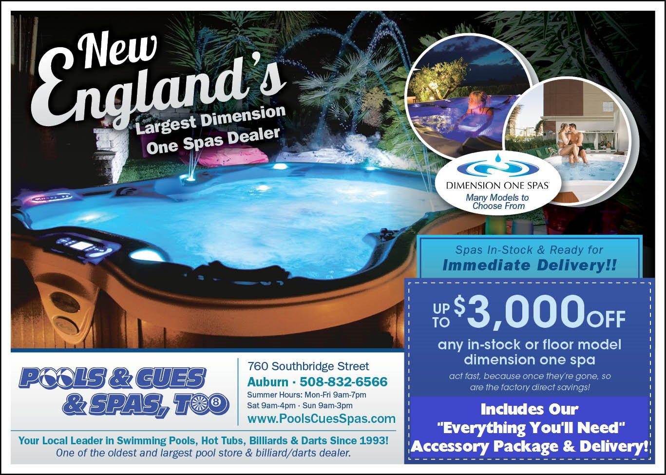 Auburn Hot Tubs | Hot Tubs in Worcester County